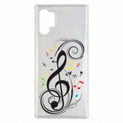 Чехол для Samsung Note 10 Plus Скрипичный ключ