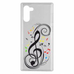 Чехол для Samsung Note 10 Скрипичный ключ