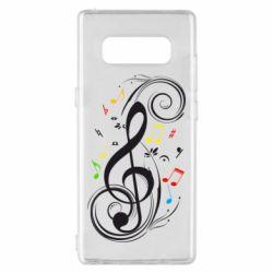 Чехол для Samsung Note 8 Скрипичный ключ