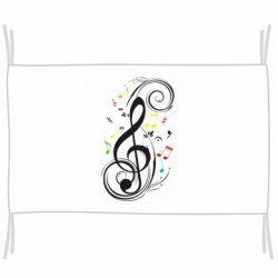 Флаг Скрипичный ключ
