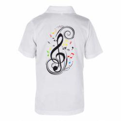 Детская футболка поло Скрипичный ключ