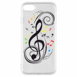 Чехол для iPhone 8 Скрипичный ключ