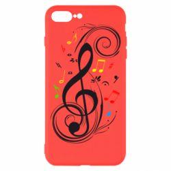 Чехол для iPhone 8 Plus Скрипичный ключ