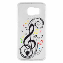 Чехол для Samsung S6 Скрипичный ключ