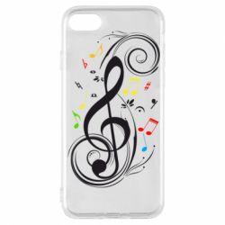 Чехол для iPhone 7 Скрипичный ключ