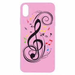 Чехол для iPhone X/Xs Скрипичный ключ