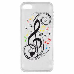 Чехол для iPhone5/5S/SE Скрипичный ключ