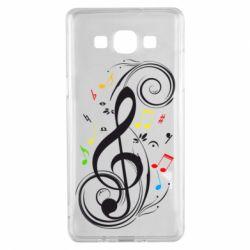 Чехол для Samsung A5 2015 Скрипичный ключ