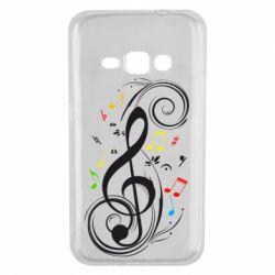 Чехол для Samsung J1 2016 Скрипичный ключ