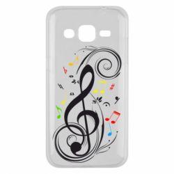 Чехол для Samsung J2 2015 Скрипичный ключ