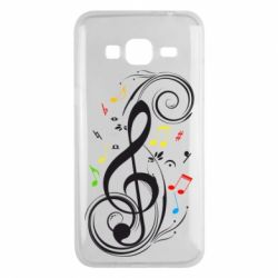 Чехол для Samsung J3 2016 Скрипичный ключ