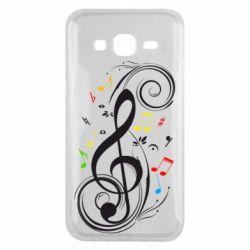 Чехол для Samsung J5 2015 Скрипичный ключ