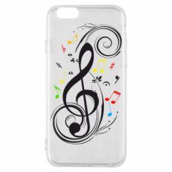 Чехол для iPhone 6/6S Скрипичный ключ