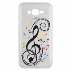 Чехол для Samsung J7 2015 Скрипичный ключ