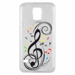 Чехол для Samsung S5 Скрипичный ключ