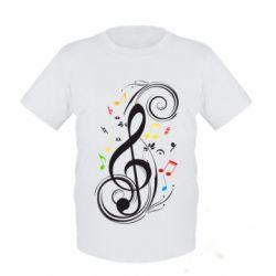 Детская футболка Скрипичный ключ - FatLine