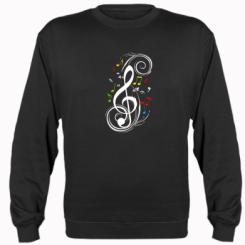 Реглан (свитшот) Скрипичный ключ - FatLine