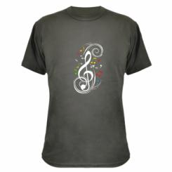 Камуфляжная футболка Скрипичный ключ - FatLine