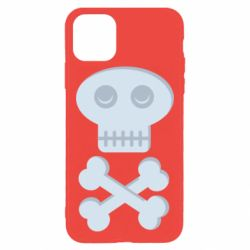 Чехол для iPhone 11 Pro Max Skull and bones minimalism