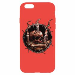 Чехол для iPhone 6/6S Skull and candles