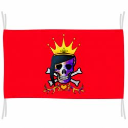 Прапор Skull and crown