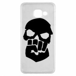 Чехол для Samsung A3 2016 Skull and Fist