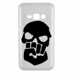 Чехол для Samsung J1 2016 Skull and Fist