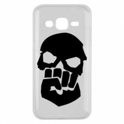 Чехол для Samsung J2 2015 Skull and Fist