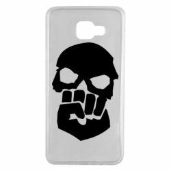 Чехол для Samsung A7 2016 Skull and Fist