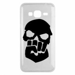 Чехол для Samsung J3 2016 Skull and Fist