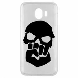Чехол для Samsung J4 Skull and Fist