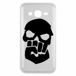 Чехол для Samsung J5 2015 Skull and Fist