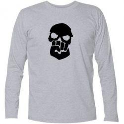 Футболка с длинным рукавом Skull and Fist
