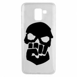 Чехол для Samsung J6 Skull and Fist