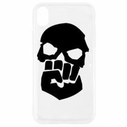 Чехол для iPhone XR Skull and Fist