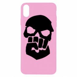 Чехол для iPhone Xs Max Skull and Fist