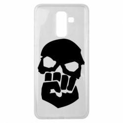 Чехол для Samsung J8 2018 Skull and Fist