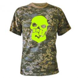 Камуфляжная футболка Skull and Fist