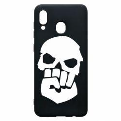 Чехол для Samsung A20 Skull and Fist