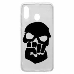 Чехол для Samsung A30 Skull and Fist