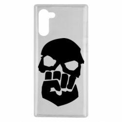 Чехол для Samsung Note 10 Skull and Fist