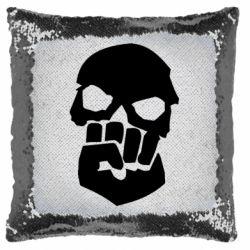 Подушка-хамелеон Skull and Fist