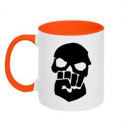 Кружка двухцветная 320ml Skull and Fist