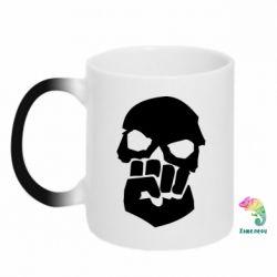 Кружка-хамелеон Skull and Fist