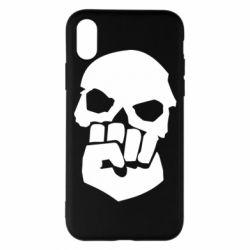 Чехол для iPhone X/Xs Skull and Fist