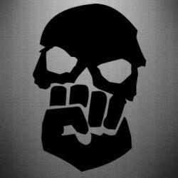 Наклейка Skull and Fist