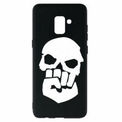 Чехол для Samsung A8+ 2018 Skull and Fist