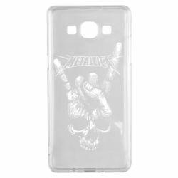 Чехол для Samsung A5 2015 Skull and hand Metallica