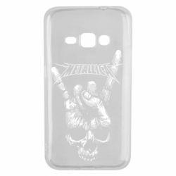 Чехол для Samsung J1 2016 Skull and hand Metallica