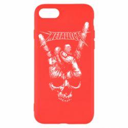 Чехол для iPhone 7 Skull and hand Metallica